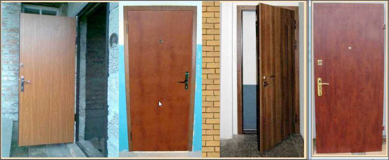 Двери с ПХВ плёнкой